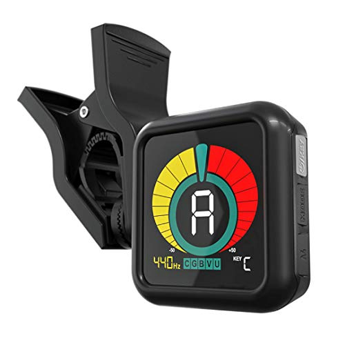 KLIQ UberTuner - Professional Clip-On Tuner for All Instruments - with Guitar, Ukulele, Violin, Bass & Chromatic Tuning Modes