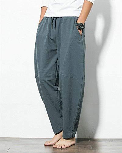 Los Drawstring Hombres Cáñamo New Basicas Sol Harem Fashion De Sueltos Summer Pantalones Grau 2018 Youth Sólido Pants Imitación Leisure Z17wWq