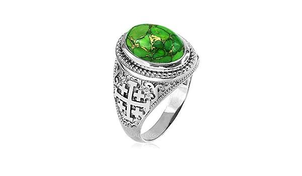CaliRoseJewelry 14k Lucky Royal Flush of Spades Poker Hand Pendant Necklace