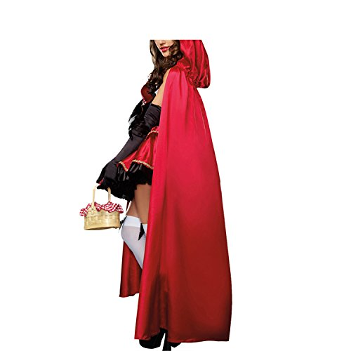 50s Showgirl Costumes (Halloween Dress Vitalismo Wench Little Hooded Cosplay Dress with Cape Gloves)