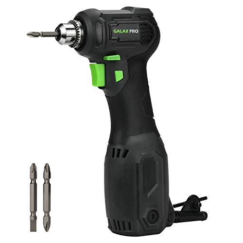 "Angle Drill, GALAX PRO 3.5 Amps Close Quarter Power Drill 3/8"" Right Angle Drill with Keyed Chuck, Ideal for Drilling for Wood, Plastics, Masonry, Metal and Screwdriving-GP56202"