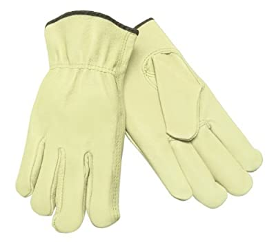 Memphis Glove 3401S Grain Pigskin Driver Regular Grade Gloves with Keystone Thumb, Yellow, Men's Small, 1-Pair by MCR Safety