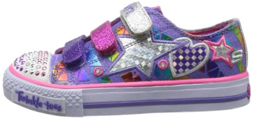Skechers Kids 10336L TWINKLE TOES - Shuffles - Classy Sassy Sneaker with blinking lights (Little Kid)
