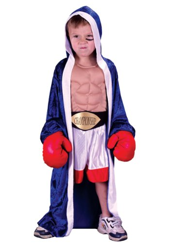 Fun World Boys Lil' Champ Costume, Multicolor, Medium 8-10