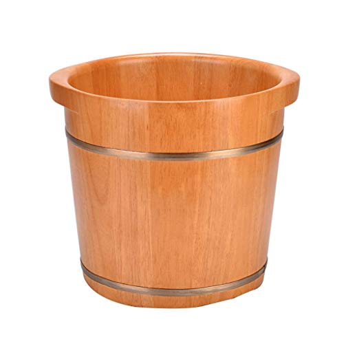 ANPMⓇ Solid Wood Foot Tub,Pedicure Spa Oak Casks,Pedicure Bowl Spa Massage Pedicure Barrels,Household Foot Bath Barrel,Wooden Foot Basin