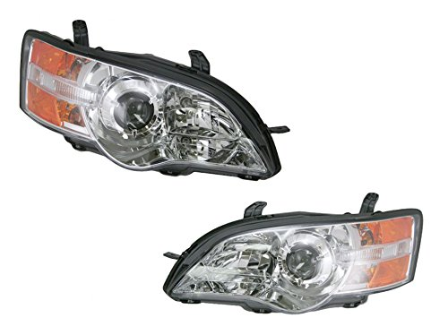 Front Headlights Headlamps Lights Lamps Pair Set for 06-07 Subaru Legacy Outback (Legacy Headlamp Subaru Lamp Headlight)