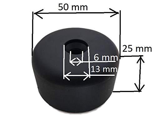 M/öbel Beine Material Kunststoff Schrauben nicht im Lieferumfang enthalten Pack von 4/PCS rund