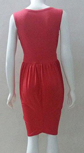 Cocktailkleid Damen Ärmel V Ausschnitt Trägerlos Vintage Elegant Asymmetrisch Kurz Sommer Ballkleid Kleider