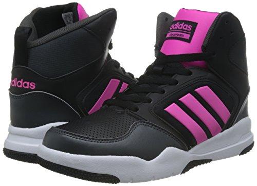 adidas CLOUDFOAM REWIND MID W - Zapatillas baloncesto para Mujer, Negro - (NEGBAS/ROSIMP/GRPUDG) 38