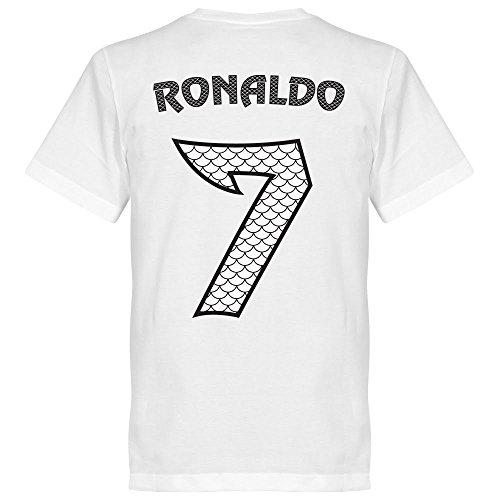 Ronaldo Nr.7 Drachen T-Shirt - weiss - M