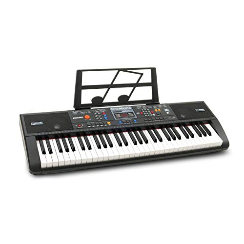 Plixio 61-Key Digital Electric Piano Keyboard & Sheet Music Stand – Portable Electronic Keyboard for Beginners (Kids & Adults) (Renewed)