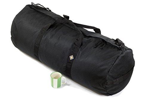 Northstar Sports 1050 HD Tuff Cloth Diamond Ripstop Series Gear and Duffle Bag, 16 x 40-Inch, Midnight Black