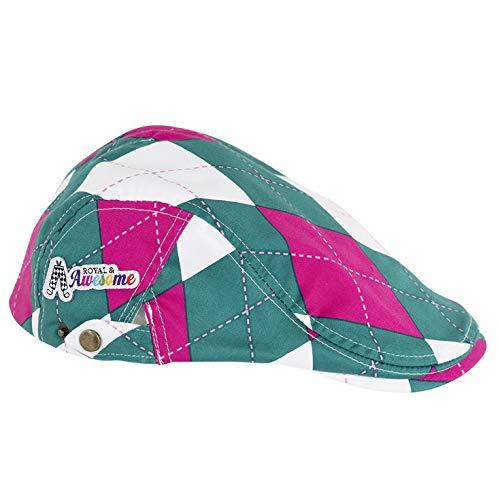 Awesome Flat Caps - Royal & Awesome Par-Gyle Unisex Golf Flat Cap Hats