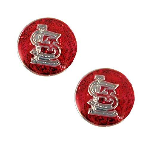 (St Louis Cardinals Glitter Post Stud Earring Set MLB Charm Gift)