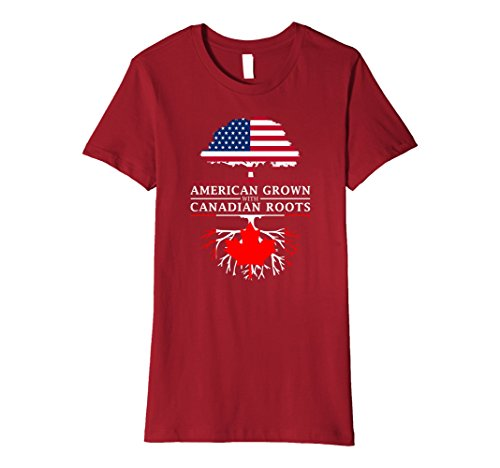 womens-american-grown-with-canadian-roots-t-shirt-canada-shirt-xl-cranberry