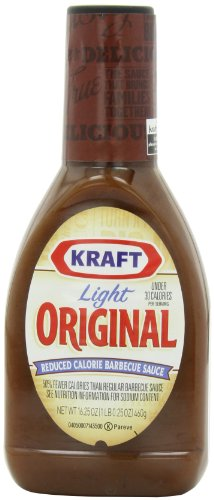 Kraft Light, Original, 30 Calorie Barbecue Sauce, 16.25-Ounce Bottles (Pack of 6)