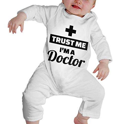 KAYERDELLE Trust Me I'm A Doctor Long-Sleeve Unisex Baby Onesies for 6-24 Months Toddler White