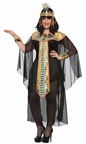 Cleopatra Plus Costumes (Forum Women's Size Cleopatra Black Costume, Multi/Color, Plus)