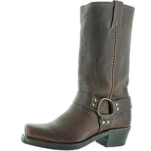 FRYE Women's Harness 12R Boot, Chestnut, 8.5 M US