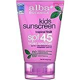 Alba Botanica Very Emollient, Kids Sunscreen SPF 45 4 oz (Pack of 10)