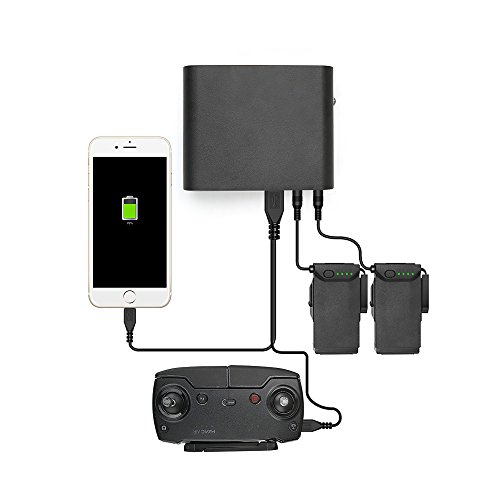 RCGEEK for DJI Mavic Air Power Bank Multi Batteries Charger Adapter Portable 4 in 1 with Quick Charge 3.7V 25000mAh for DJI Mavic Air and Phone
