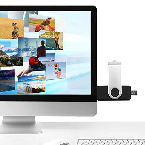 fghdf 2-en-1 USB Flash Drive Pen Drive Externa Memory Stick para PC tel/éfono Android