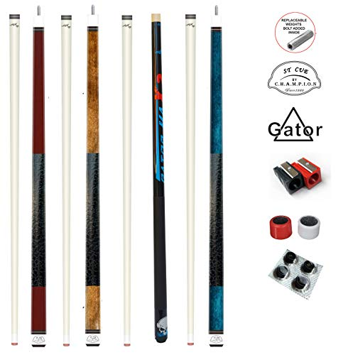 Gator Wholesale Savings! 4 Cue Sets! ST Series Billiard Pool Cue Sticks, Accessories 18 -