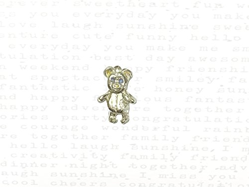 Stitched Together Bear Charm in Silver & 22k Gold