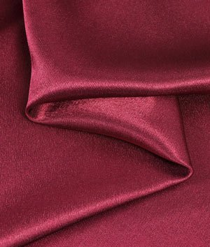 - Burgundy Crepe Back Satin Fabric - by the Yard