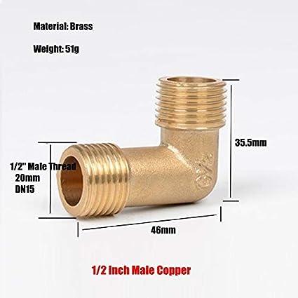 Amazon.com: 3 conectores de codo de cobre y acero inoxidable ...