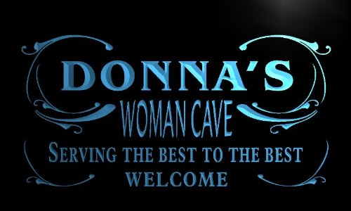 x2017-tm Donna's Woman Cave Room Custom Personalized Name Neon Sign