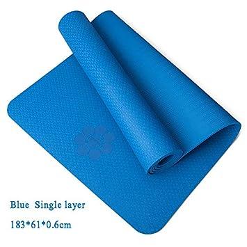 YOOMAT 6/8MM Extra Thick Non-Slip Foam Yoga Mats Free Bags ...