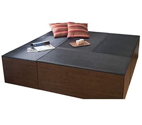 樹脂畳ユニット「aセット」 ハイタイプブラック、オレンジカラー (60cm×1台PP-H60,120cm×4台PP-H120) PP-HA-BK-OR 2色有 セットがお得!特別 特価 樹脂 和モダン 収納 ボックス (ブラック)  ブラック B01CDTFJHY