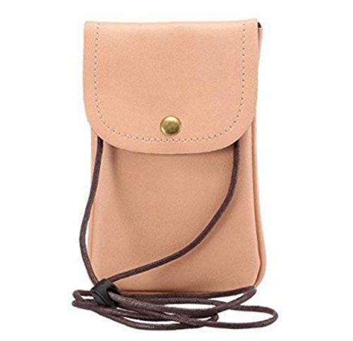 Mini Shoulder Bag Pink Pouch Small Cellphone Crossbody YaJaMa Wallet Leather Handbag 1wUxXt