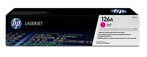 HP 126A (CE313A) Magenta Original Toner Cartridge for HP LaserJet Pro 100 CP1025 HP TopShot LaserJet Pro (126a Laser Toner Cartridge)