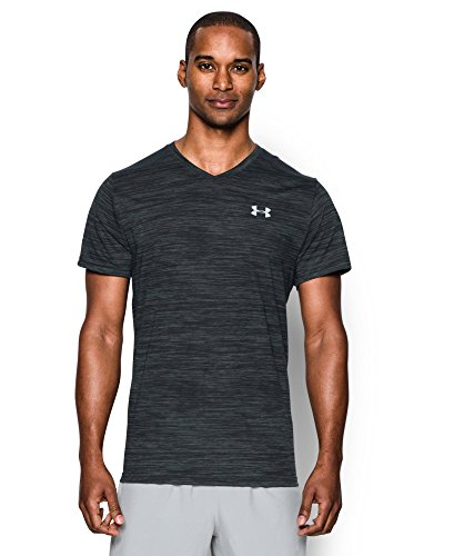 Under Armour Men's Streaker Run V-Neck T-Shirt, Anthracite (016), X-Small