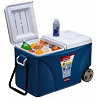 Rubbermaid 75 qt. Blue Wheeled Cooler