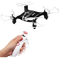 Mini UFO Quadcopter Pocket Drone Syma X20-S Somatosensory Single Hand Control Nano RC Quadcopter Toy Black