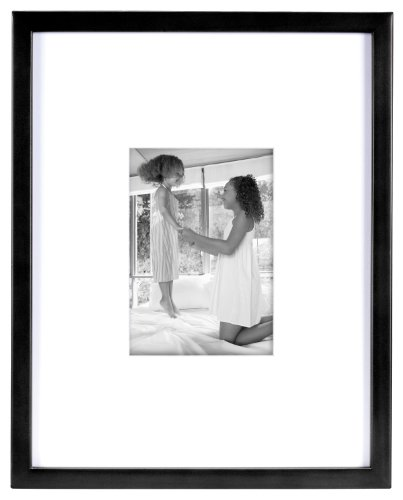 (MCS 11x14 Inch East Village Collage Frame with 5x7 inch Mat Opening, Black (29021))
