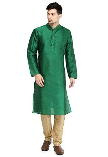 - Indian Men's Kurta Pyjama Set Wedding Festive Party Dress Dupion Silk Set S-5XL