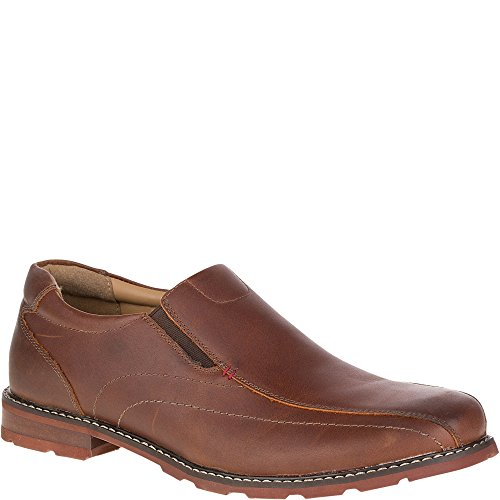 Hush Puppies Men's Picton Spy Ice Waterproof Loafers, Tan, Leather, Rubber, Memory Foam, 11 M