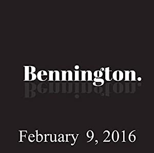 Bennington, February 9, 2016 Radio/TV Program