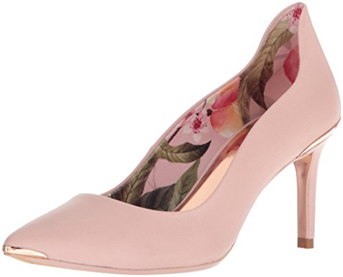 Ted Baker Women's Vyixyn Pump, Blossom Pink Leather Blossom Print Lining, 7.5 Medium (Bakers Flats)