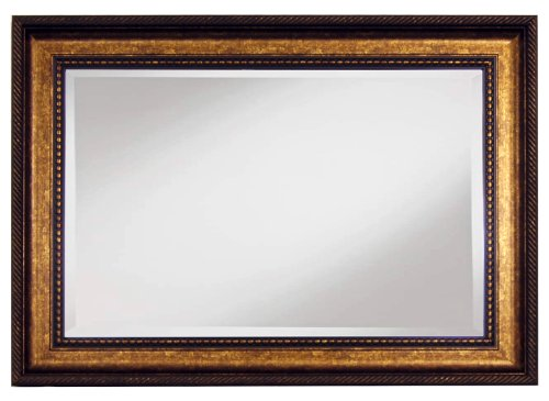 Home Decorative Framed Wall Mirror, Brown Gold - 1
