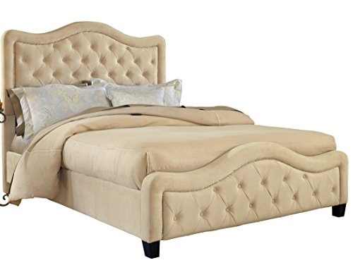 Hillsdale Furniture 1566BKRT Trieste Bed Set With Bed Frame, King, Buckwheat -