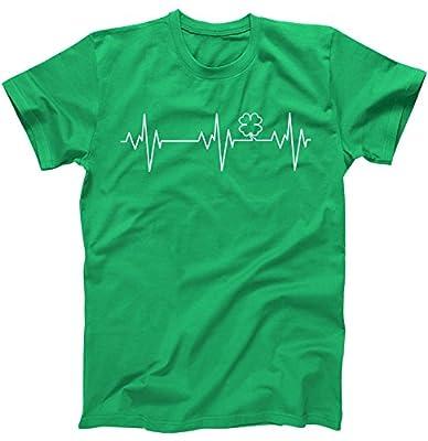 Irish Clover Heartbeat Funny St. Patrick's Day Drinking T-Shirt