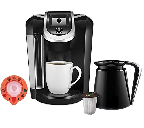 Coffee Maker Brewing System - Exclusive Offer Includes 2.0 Carafe and 2.0 Brewer Maintenance Accessory - Capable to Brew K-Cup and K-Carafe Pods - Black ()