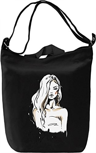 Girl With The Wavy Hair Borsa Giornaliera Canvas Canvas Day Bag| 100% Premium Cotton Canvas| DTG Printing|
