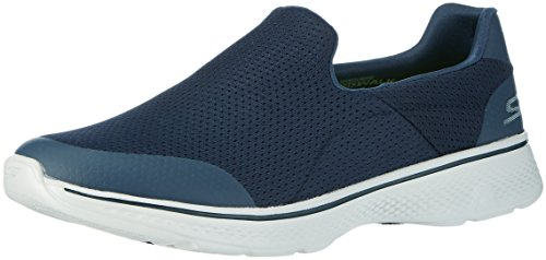 Skechers Performance Men's Go Walk 4 Incredible Walking Shoe, Navy/Gray, 11 M US (The First Dog To Go To Space)