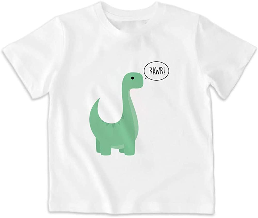 SUPERMOLON Camiseta niño Rawr! Blanca: Amazon.es: Ropa y accesorios
